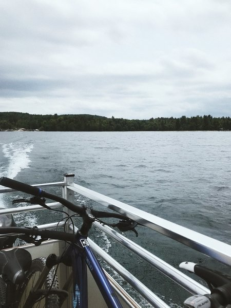 The ferry ride to the island - short and sweet. It's $28. $20 for you, $8 for the bike