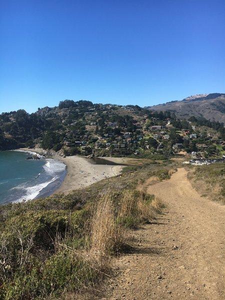 View of sunny Muir Beach