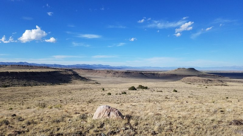 Looking northward from the top of Nicomodes Ridge. Limekiln Peak in the distance.