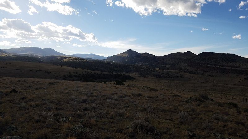 Looking Eastward from the top of Nicomodes Ridge. Dog Mountain in the distance.