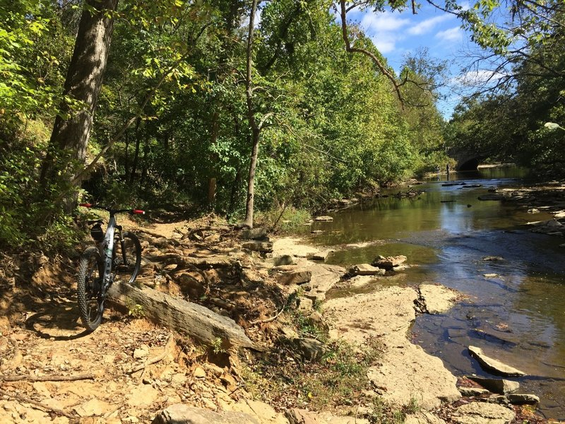 Great place for a break along Beargrass Creek.