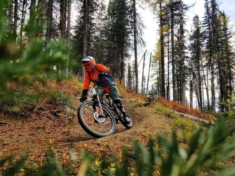 Fall riding up at Mt Spokane.