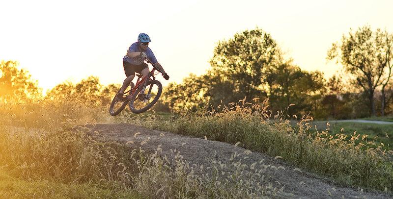 Grabbing air at Mt. Trashmore