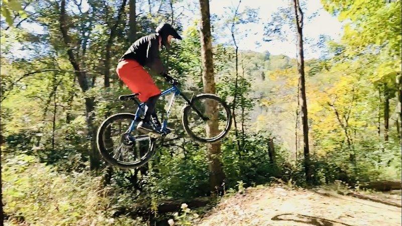 Gap jump towards the bottom of Full Monty.