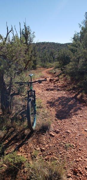 Red rock chunk on Girdner! Fun with plus tires!