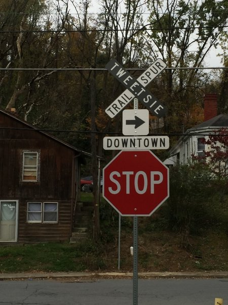 Tweetsie Trail Sign.