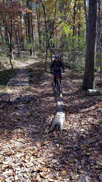 First successful log ride.