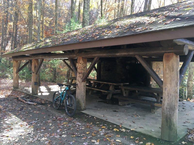 Picnic shelter on Round Knob.
