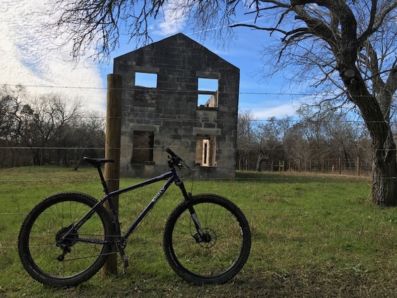 My Krampus at the ruins of the McKinney Homestead.