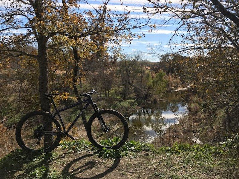 At the Williamson Creek Overlook.
