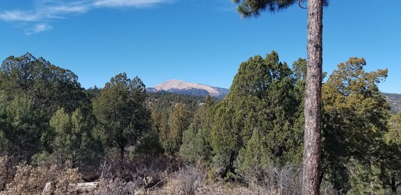 View of Sierra Blanca on the Alfred Hale Connector.