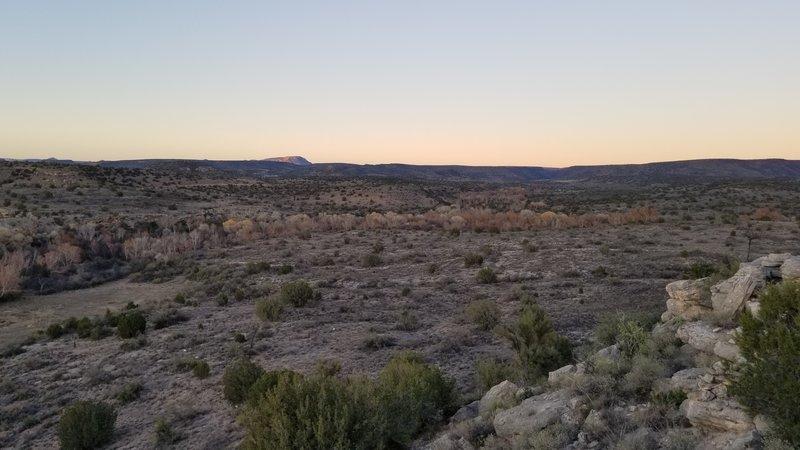 View of Monetzuma well from Montezuma Overlook Trail.