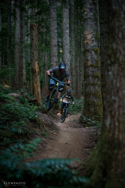 The main builder Shawn Lorenz made sure to add as much fun into the trail as possible if you can see it.