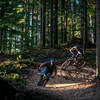 Laying into corners on Olallie trail.