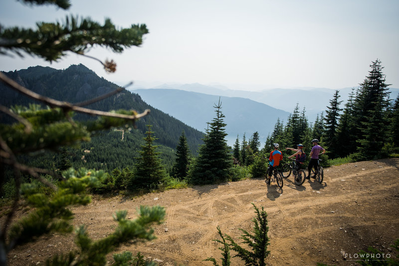 The main climb trail is the logging road that leads to the 3/4 point of the trail. Surrounded by great views, this is one of my favorite trails.