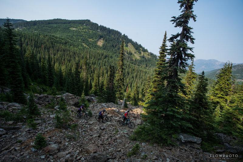 The one hike-a-bike before 4k of downhill!
