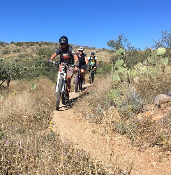 Not technical at, all these trails make for great social rides as well.