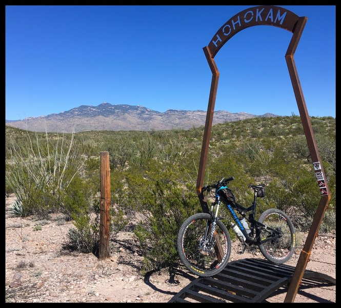 Custom cattle guard/crossing near the beginning of the trail marks the entrance to state land.