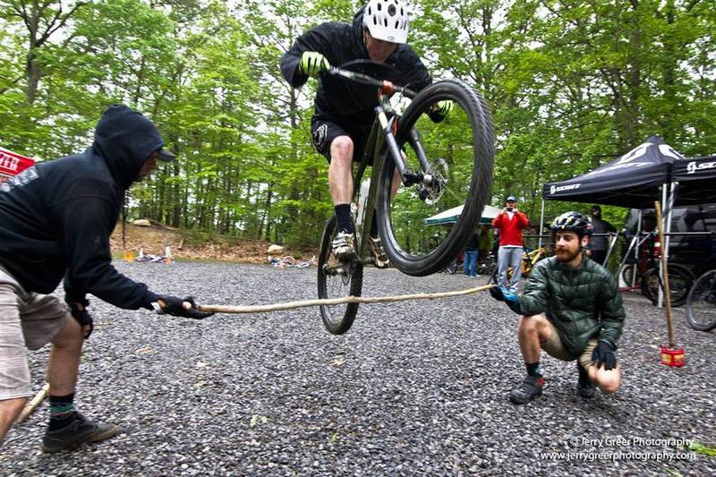Bunny Hop contest during Bike @ Bays, photo by Jerry Greer