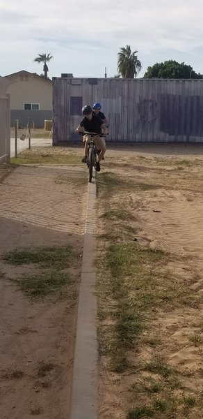 """Can you ride """"The Skinny""""? 90 feet of 5"""" curb."""