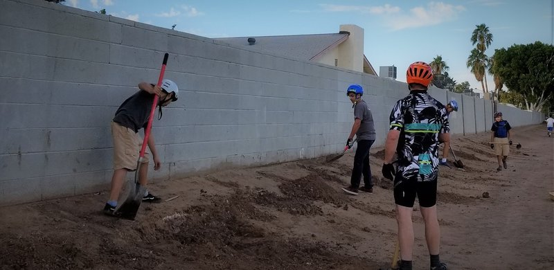 "Centennial Middle School Bike Team building ""Roller Derby"""