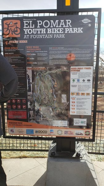 Map of El Pomar Youth Bike Park
