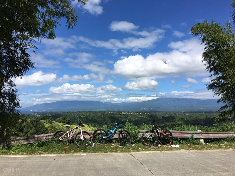 Great view of south of Davao City and the majestic Mt. Apo (hidden by clouds) along Langub road on the way to Carabao Trail, Devil's Trail, and Happy Ka Trail.