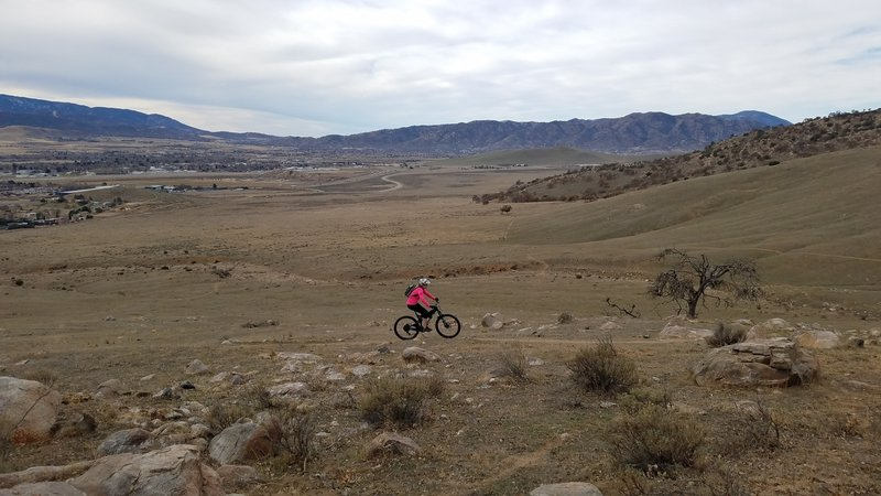 Just a little mid altitude MTB with Tehachapi in the background.
