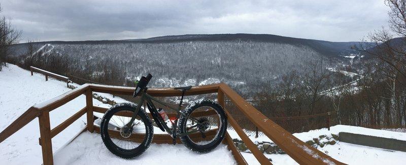Snowy overlook