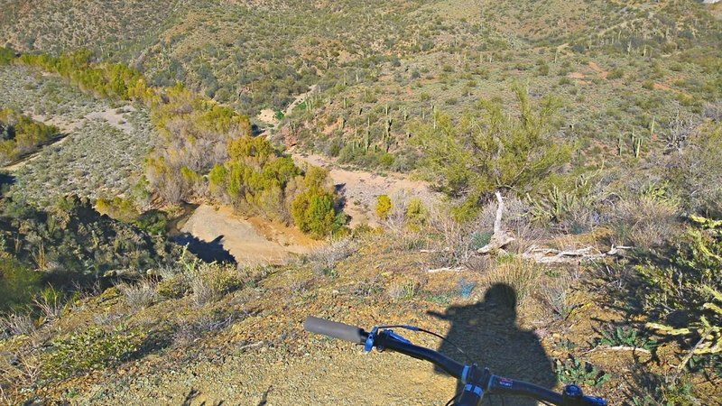 This switchback provides a view right down to the river