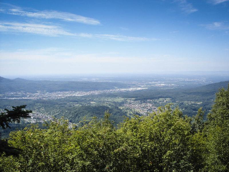 View of the Rhein River Valley from the overlook near the Bernstein summit.
