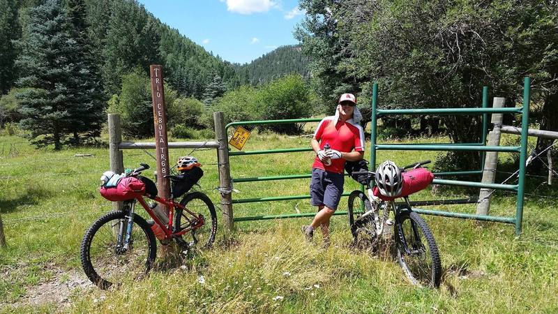 Bikepacking on Cebolla Creek - getting to the top of the valley.