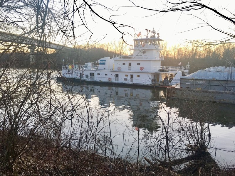 Towboat on the Verdigris River.