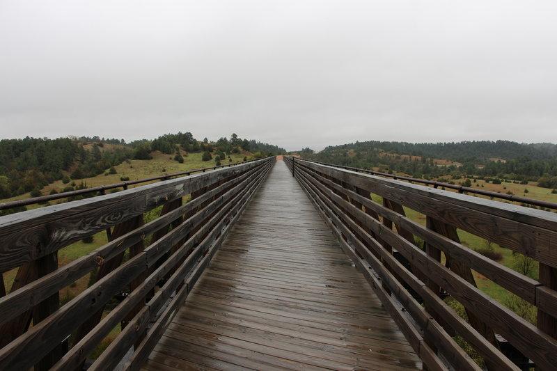 Wet bridge over the Niobrara River.