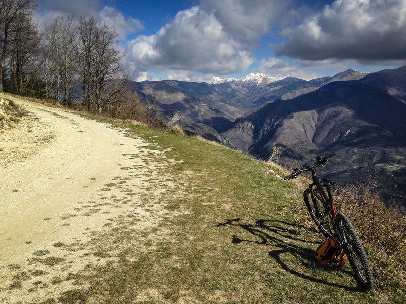 View to the north towards the Franco-Italian Border