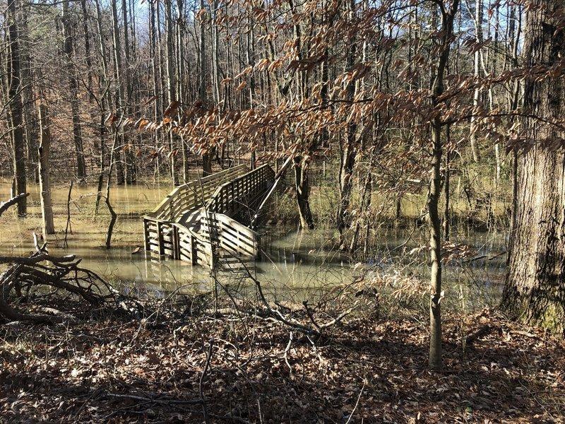 First bridge flooded 2/25/19