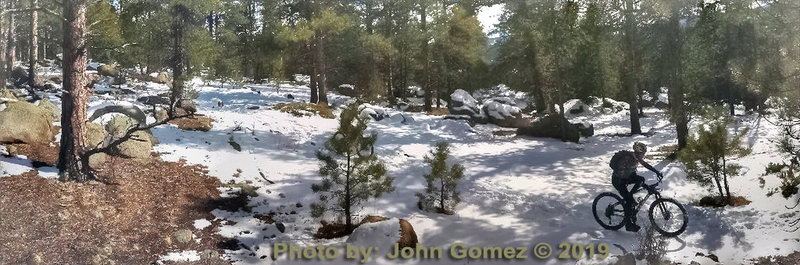 Wonderful Colorado riding on hard packed snow.