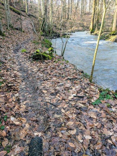 Cascade Trail during high water