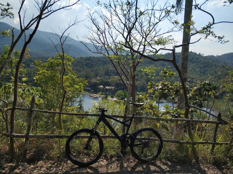 View down to the Palmar Lake