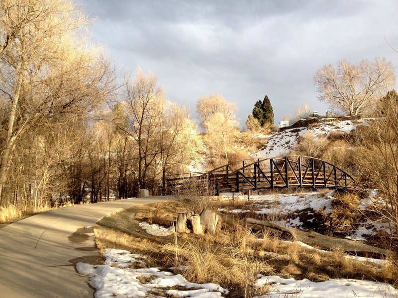 Clear Creek bridge crossing.