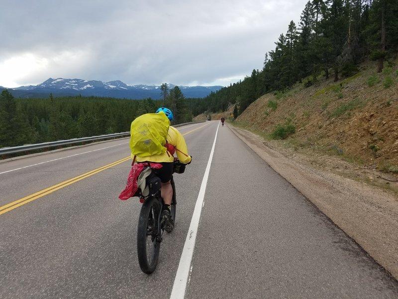 Peaks to Peaks Highway against the Divide.