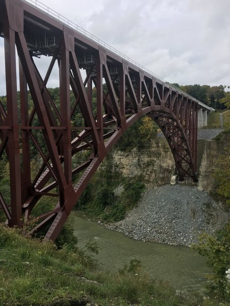 New railroad bridge.