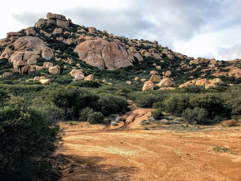 The trail finishes at the base of Lawson Peak