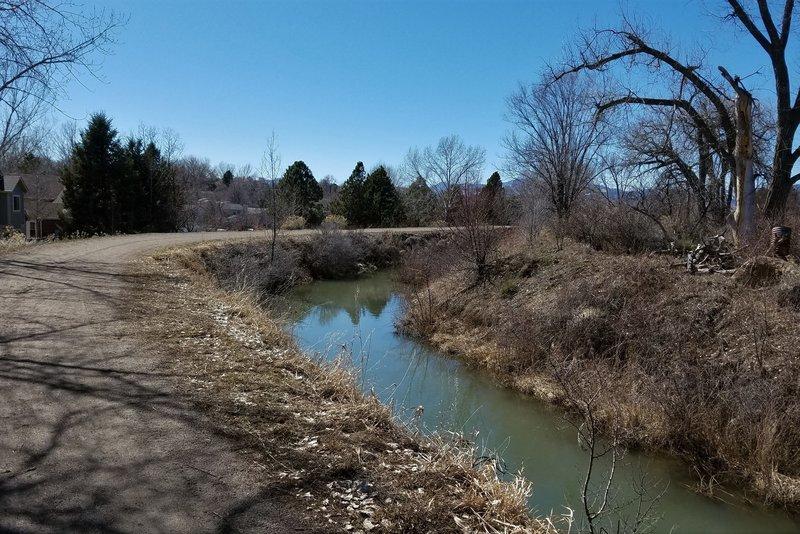 Croke Canal on Rocky Mountain Greenway Trail