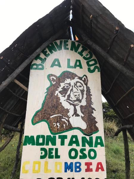 Park entrance sign.