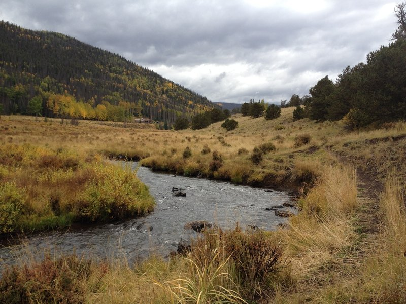 La Garita Creek upstream.