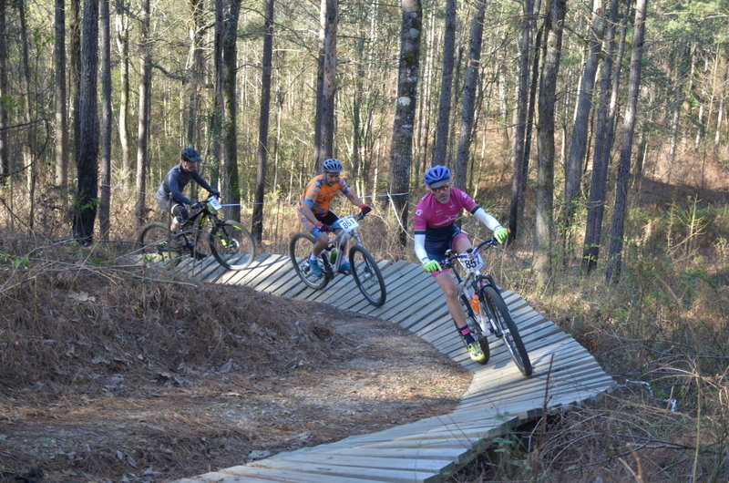 racers flying up the Sandy Hill Berm