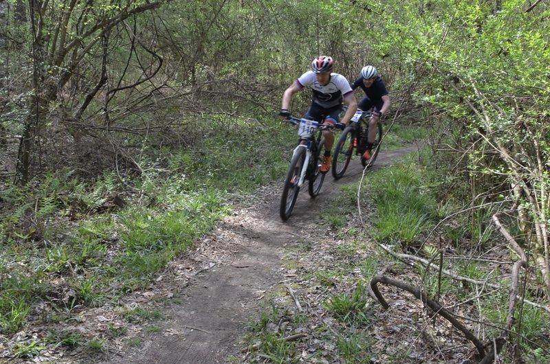 fun racing just before the soggy bottom bridge
