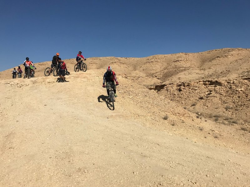 plenty of fun steep sections on this doubletrack gravel road