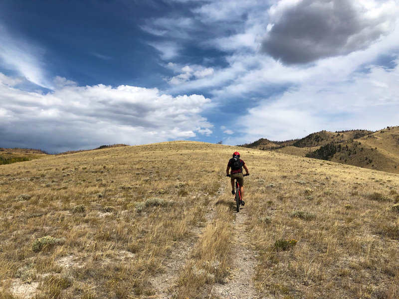 Wide open Wyoming skies while continuing the climb riding south to north.